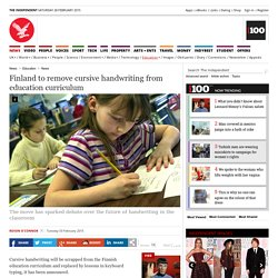 Finland to remove cursive handwriting from education curriculum - Education News - Education