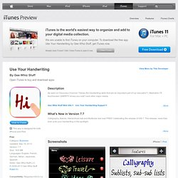 Use Your Handwriting for iPhone, iPod touch, and iPad on the iTunes App Store