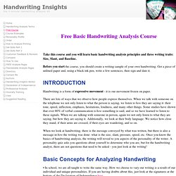 Free Basic Hand Writing Analysis Course from Handwriting Insights 5 Minute Handwriting Analysis Kit Reveals Personality Test Traits Inventory