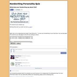 Handwriting Analysis Personality Test