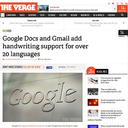 Google Docs and Gmail add handwriting support for over 20 languages