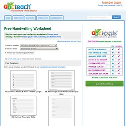 Free Handwriting Worksheet Editing