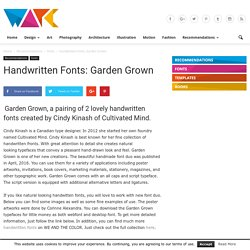Handwritten Fonts: Garden Grown