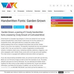 Handwritten Fonts: Garden Grown