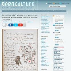 See The Original Alice In Wonderland Manuscript, Handwritten & Illustrated By Lewis Carroll (1864)