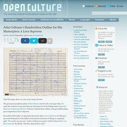 John Coltrane's Handwritten Outline for His Masterpiece A Love Supreme