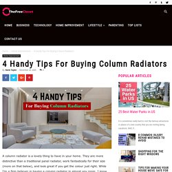 4 Handy Tips For Buying Column Radiators