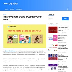 5 handy tips to create a Comic by your own - PhotoADKing Blog