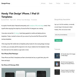 Handy 'Flat Design' iPhone / iPad UI Templates