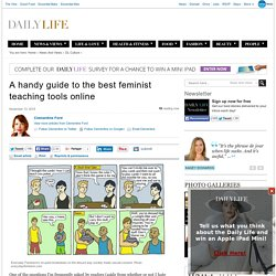 A handy guide to the best feminist teaching tools online