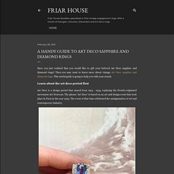 A handy guide to Art Deco sapphire and diamond rings