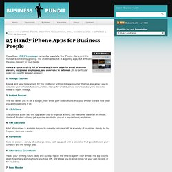 25 Handy iPhone Apps for Business People