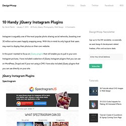 10 Handy jQuery Instagram Plugins