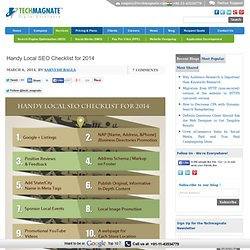 Handy Local SEO Checklist for 2014
