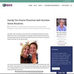 Handy Ten Frame Placemat with Number Sense Routines