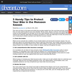 5 Handy Tips to Protect Your Bike in the Monsoon Season