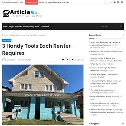 3 Handy Tools Each Renter Requires