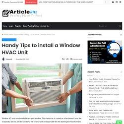 Handy Tips to install a Window HVAC Unit