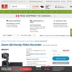 Zoom Q8 Handy Video Recorder ZQ8 B&H Photo Video