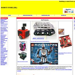 Robot Store (HK) -- Robot parts, MIT Handyboard system, LEGO, OOPIC, Dr Robot kits, robot parts, robot kits, sensors, DC motors, gearbox, gear box, solar battery, stepper motor, wheel, tire, robot parts, RF module, digital compass, sonar, Tamiya models, O