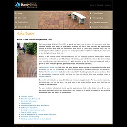 Handydeck decking tiles for outdoor decks