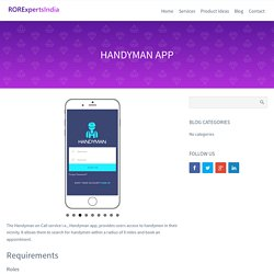 Family Handyman App for IPhone and Android - RORExpertsIndia