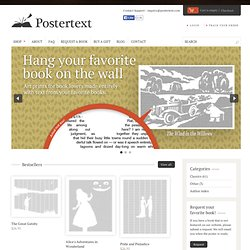 Book posters for reading enthusiasts - Postertext