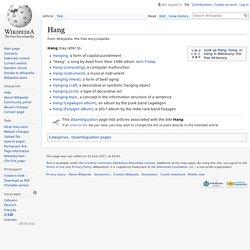 Hang - Wikipedia