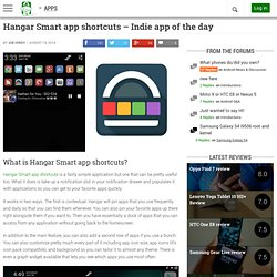 Hanger Smart app shortcuts - Indie app of the day