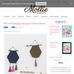 DIY wall hanging: Hexagon crochet pattern