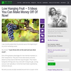 Low Hanging Passive Income Idea Fruit