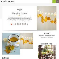 Hanging Leaves - Martha Stewart Crafts