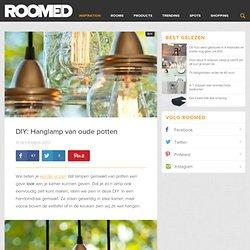DIY: Hanglamp van oude potten