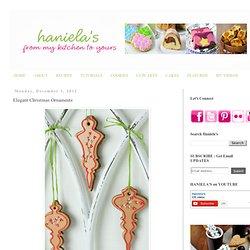 Haniela's: Elegant Christmas Ornaments