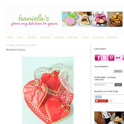 Haniela's: Red Heart Cookies
