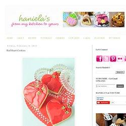 Haniela's: Red Heart Cookies