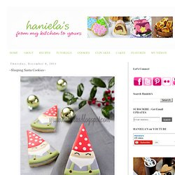 Haniela's: ~Sleeping Santa Cookies~