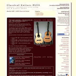 Hanika 58PC / 58PF Classical Guitar. Classical Guitars PLUS.