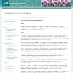 Hanlon Lab – List of Publications