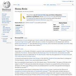 Hanna Rosin