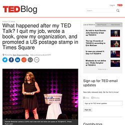 """How Hannah Brencher's life """"flipped upside down"""" after her TED Talk"""