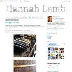 Hannah Lamb: patina