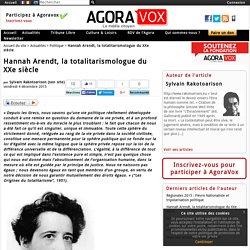 Hannah Arendt, la totalitarismologue du XXe siècle