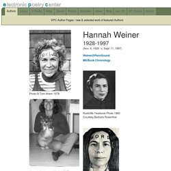 Hannah Weiner EPC Author Page