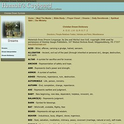 ‎hannahscupboard.com/dream-dictionary.html