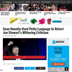 Sean Hannity's Tirade in Response to Jon Stewart's Criticism