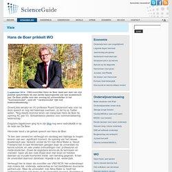 ScienceGuide - Hans de Boer prikkelt WO