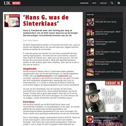 'Hans G. was de Sinterklaas'