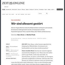 Hans-Joachim Maaz: Wir sind allesamt gestört
