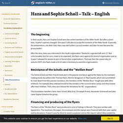 Hans and Sophie Scholl - Talk